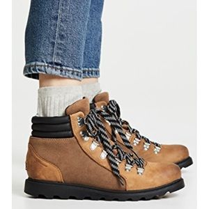 Sorel Ainsley Conquest Boots Brown NWB